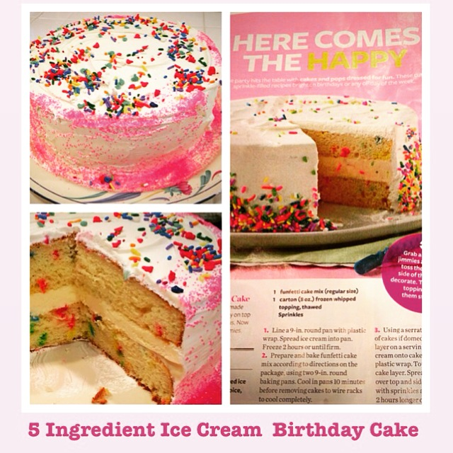 5 Ingredient Ice Cream Birthday Cake