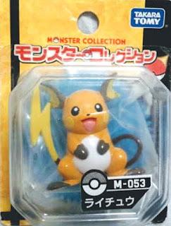 Raichu figure Takara Tomy Monster Collection M series