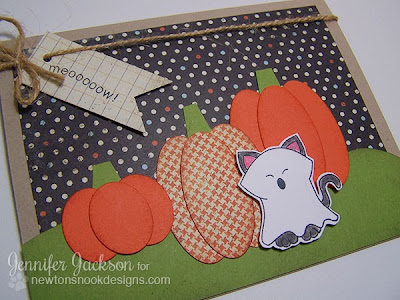 Pumpkin & Kitty Halloween Card using Boo Crew by Newton's Nook Designs