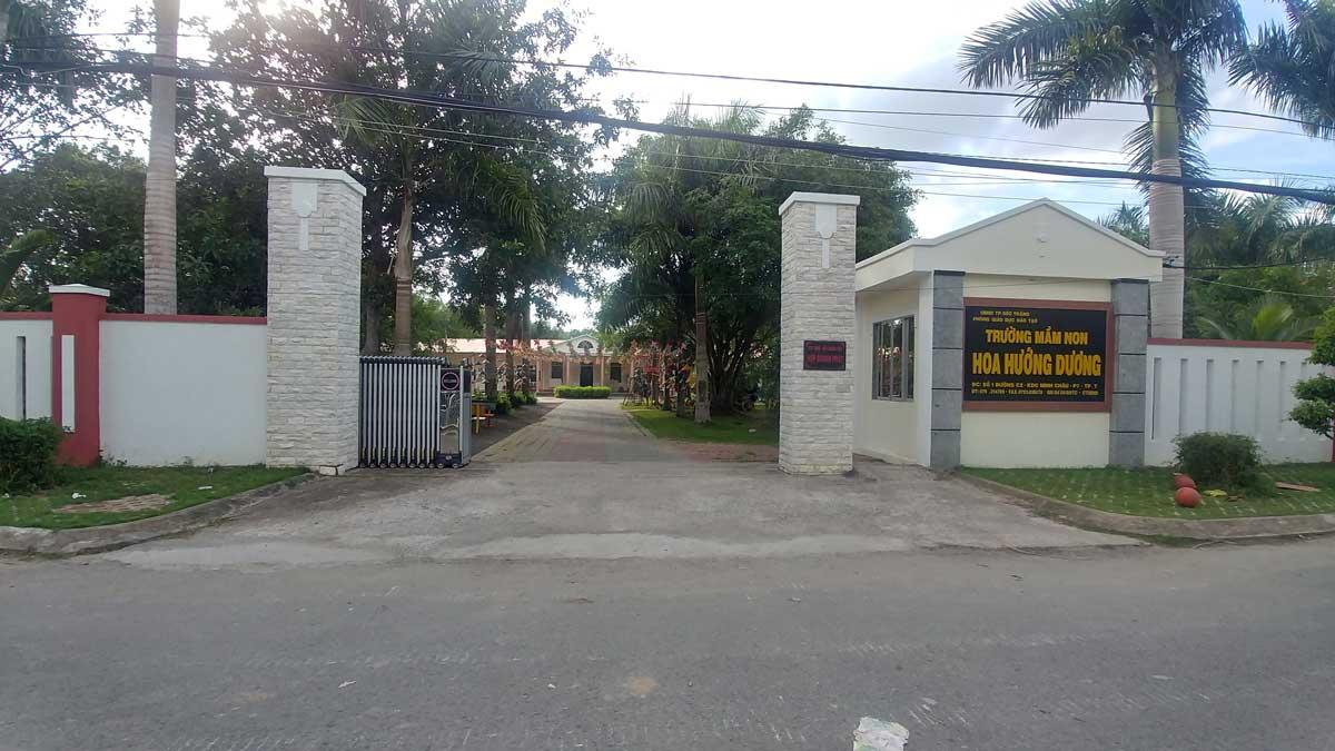 Trường mầm non Hoa Hướng Dương trong khu dân cư