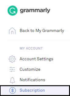 Grammarly subscription