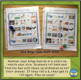 Using dice in speech therapy makes it more fun! Looks-Like-Language
