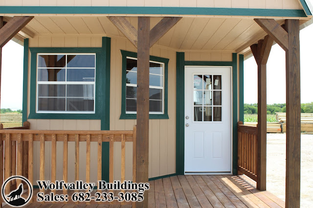 Wolfvalley Buildings Storage Shed Blog : Deluxe Lofted Cabin-12x28