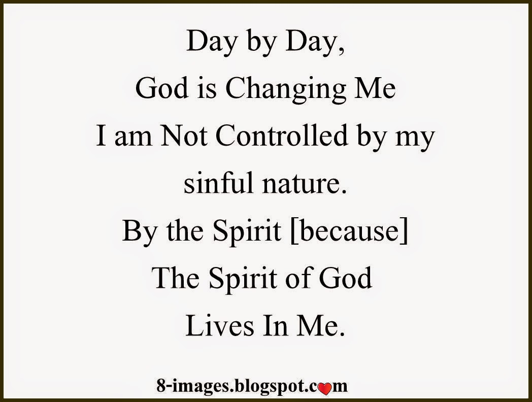 "God, Sinful, Nature, Spirit, ""Lives in me"""
