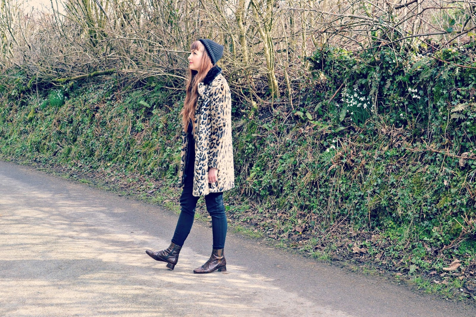 Fashion blogger, leopard print coat, topshop, whistles