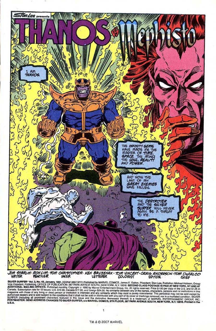 Read online Silver Surfer (1987) comic -  Issue #45 - 3