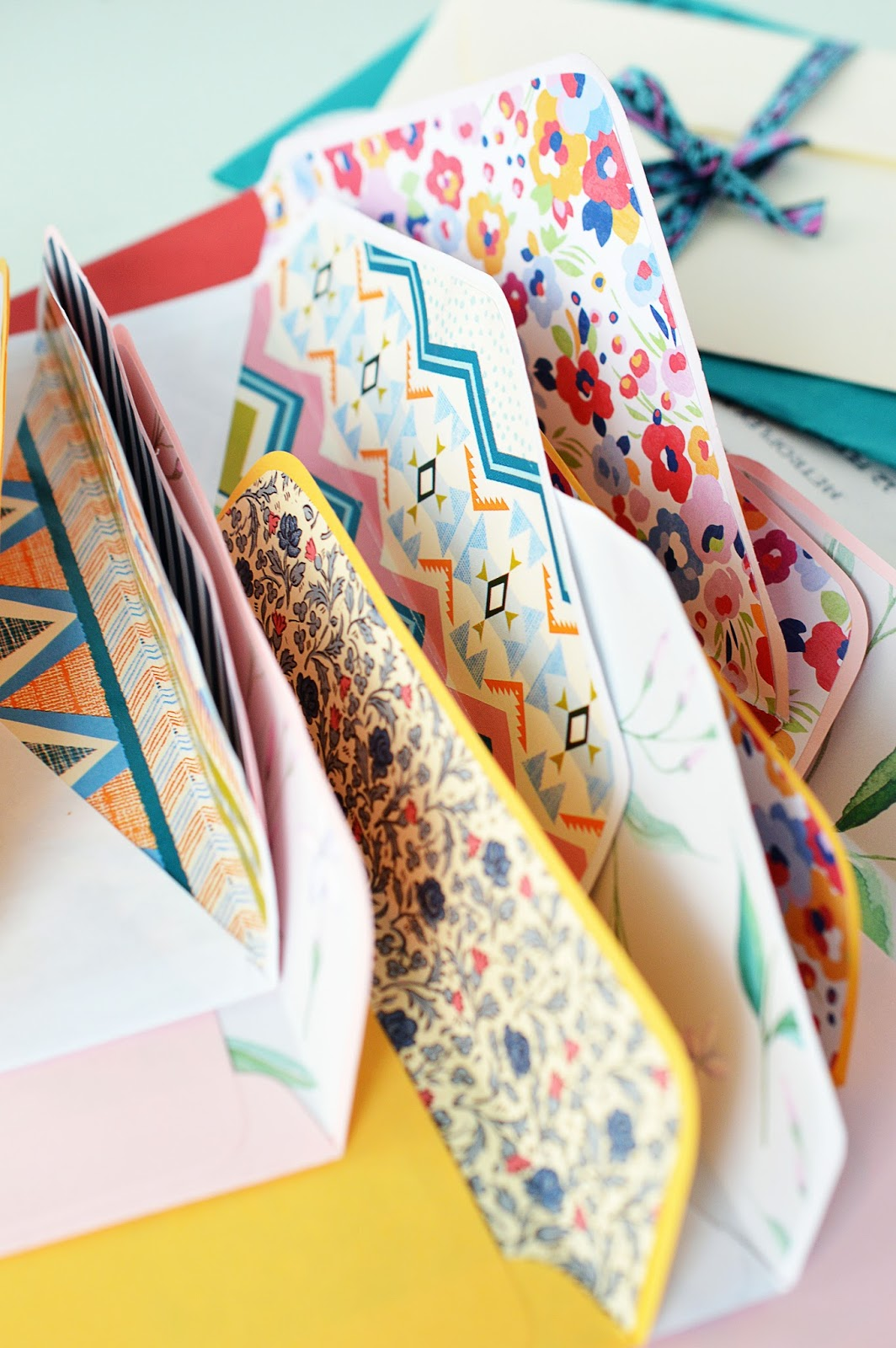 DIY Lined Envelopes | Motte's Blog