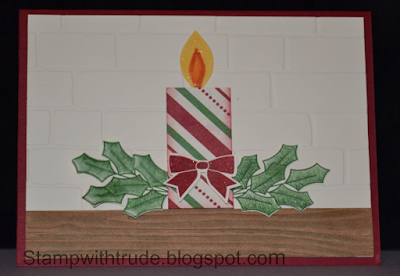 Tuesday Tutorial, Stampin' Up!, Stamp with Trude, Holly Berry Happiness, Christmas card