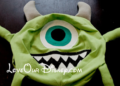 DIY Tutorial for making a stuffed Monsters Inc Mike Wazowski. Includes a free printable pattern. LoveOurDisney.com