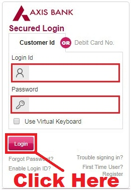 how to change login id in axis bank netbanking
