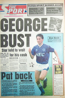 Back page of the Sport newspaper 31 Aug 1988