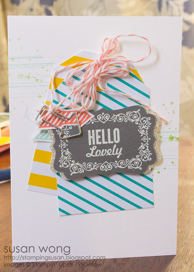 Hello Lovely Card. Susan Wong.