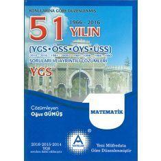 AYayınları YGS Matematik 51 Yılın Soruları ve Ayrıntılı Çözümleri (2017)