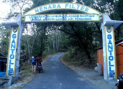 gapura masuk desa Landasan gantole 1 bukit gantole gunung gantole Kabupaten Wonogiri Jawa Tengah Indonesia Wisataarea.com