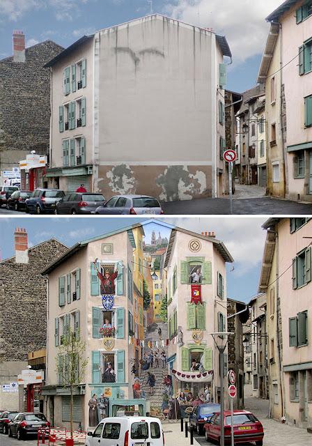Sıkıcı Şehir Duvarlarını Seslendiren Sokak Ressamı