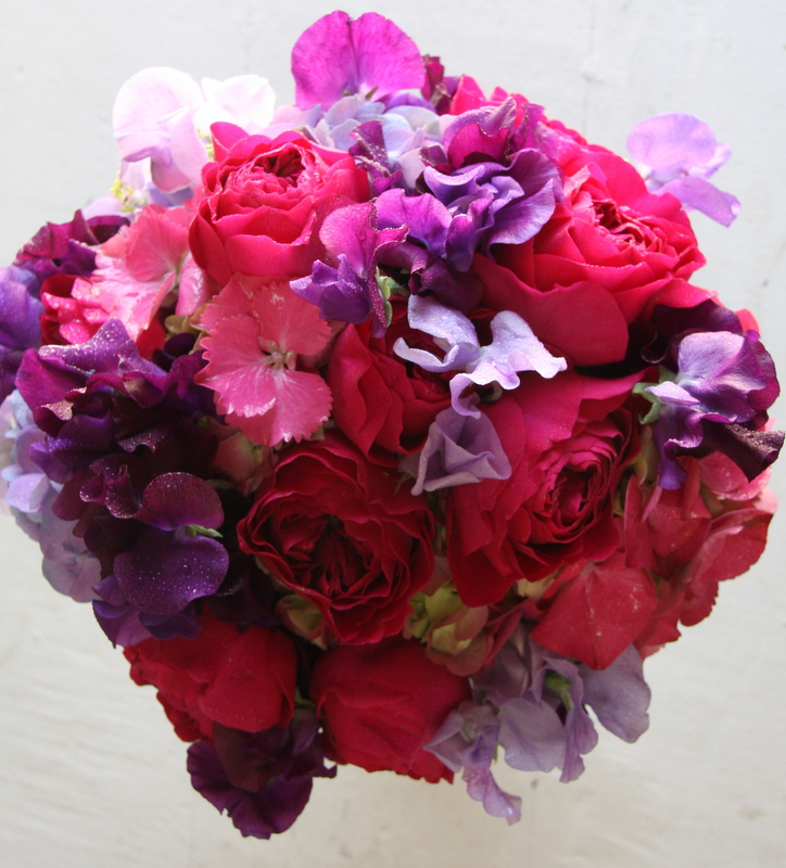 Purple And Pink Wedding Flowers: The Flower Magician: Hot Pink & Deep Purple Wedding Bouquet