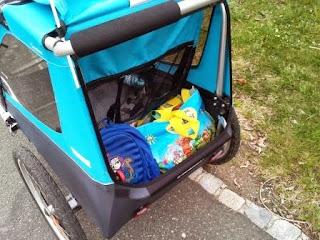 Thule Chariot Coaster Kinderanhänger fürs Fahrrad in blau