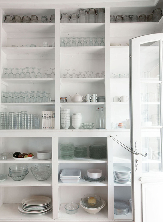 Open kitchen shelving | Mark Eden Schooley via Lonny