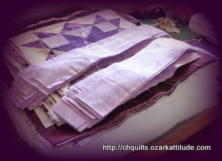 purple quilt blocks
