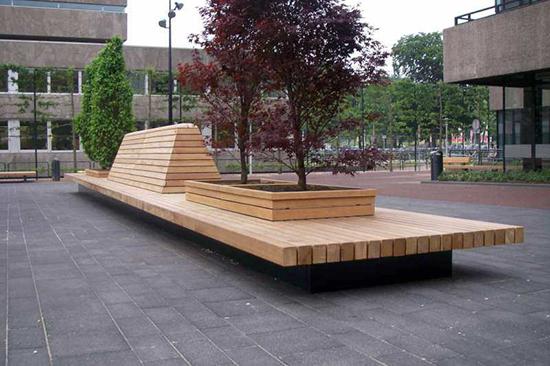 8 gambar kursi taman inspiratif dengan beton dan kayu