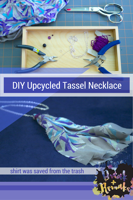 Super simple upcycle DIY using an old shirt!