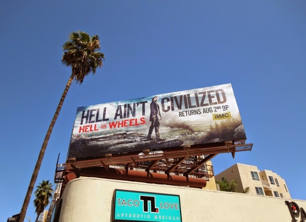 Hell on Wheels series 4 billboard