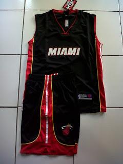 Jual Jersey Basket Anak Miami Hitam di toko jersey jogja sumacomp, murah berkualitas