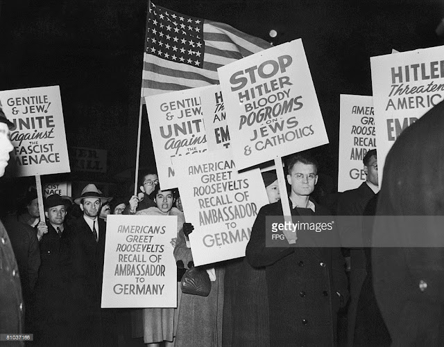 anti German Olympia protests