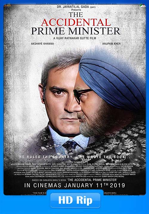 The Accidental Prime Minister 2018 Hindi 720p WEBHD x264 | 480p | 300MB | 100MB HEVC Poster