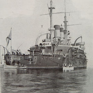 The Potemkin achored in Constanta (July 1905)