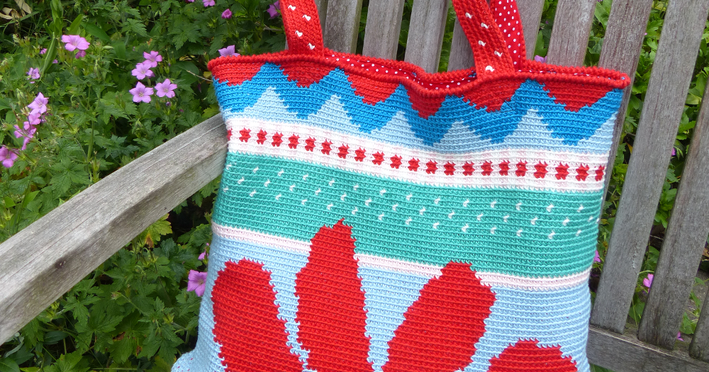 Bag Crochet MadebyleenBlog BlogRed Sunflower Over Haken yw0Nnv8Om