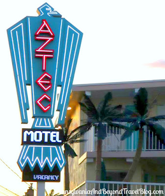 Aztec Motel in Wildwood Crest, New Jersey - Neon Sign