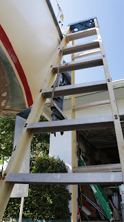 SV HideAway boarding ladder is eight foot tall