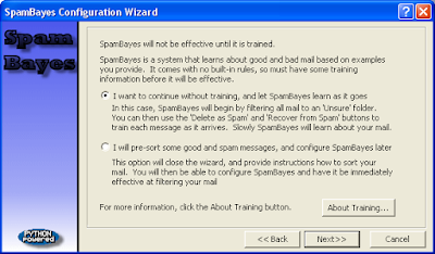 SpamBayes - Wizard