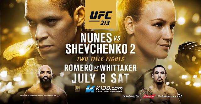 UFC 213 Amanda Nunes VS Valentina Shenchenko