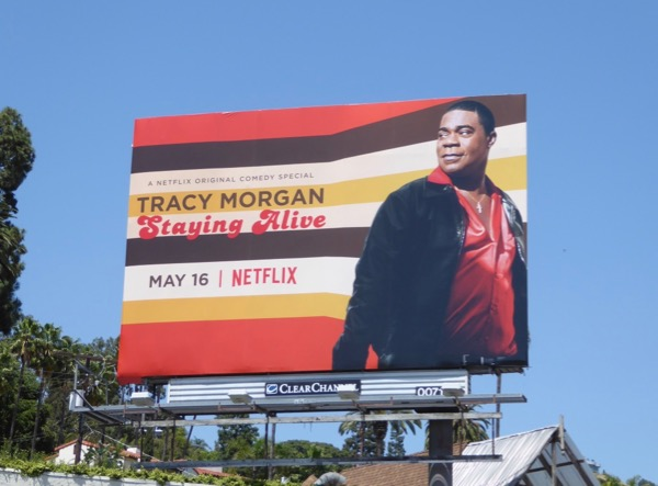 Tracy Morgan Staying Alive billboard