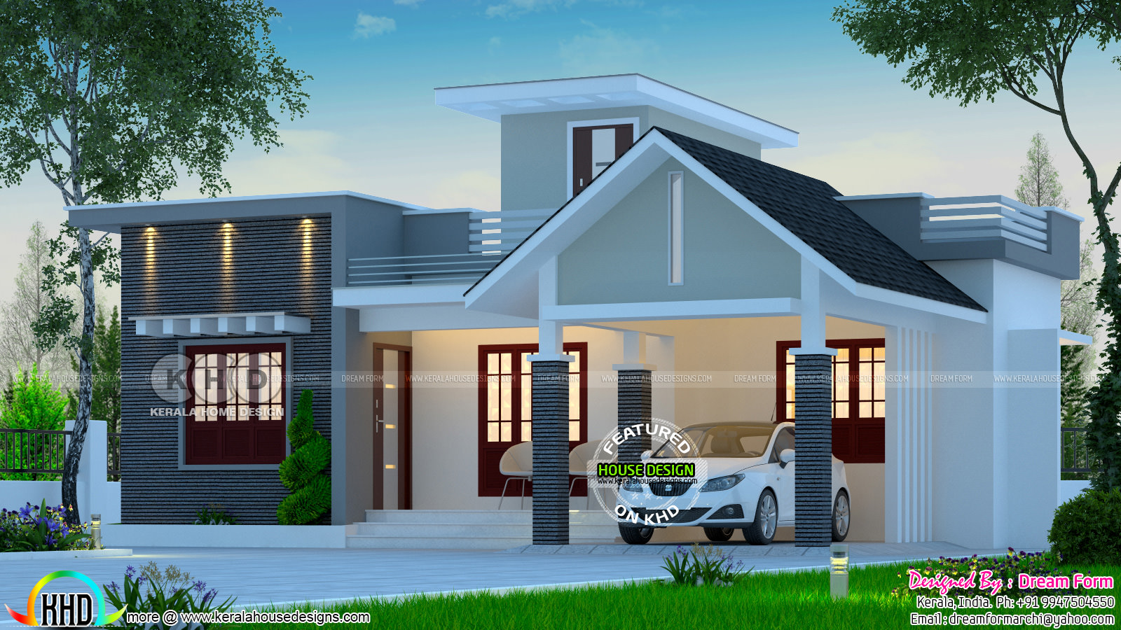 2 Bedroom Low Budget House 1013 Square Feet Kerala Home