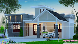 budget low bedroom floor cost kerala single modern square plans plan feet designs simple bungalow 1013 ground front india keralahousedesigns