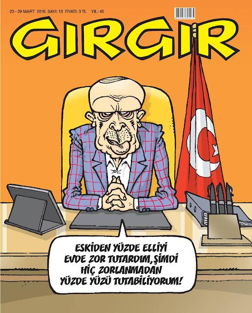 Gırgır Dergisi - 23-29 Mart 2016 Kapak Karikatürü