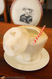 Fresh Buko Juice of Dekada Restaurant