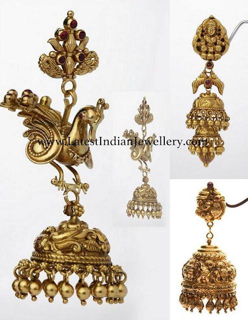Magnificent Nakshi Jhumkas