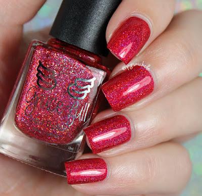 Grace-Full Nail Polish Scarlet Sparkles | Rainbow Sparklers Collection