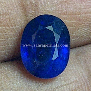 Batu Permata Royal Blue Saphire + Memo - ZP 403
