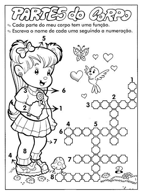 Atividades sobre o corpo humano para educação infantil