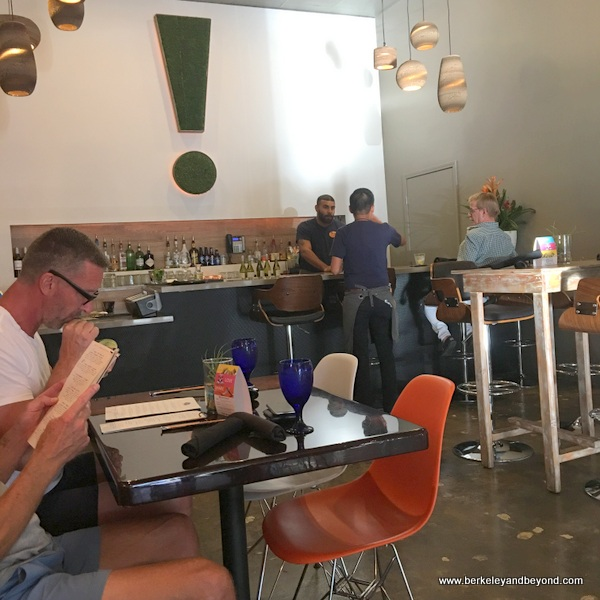 dining room at 533 Viet Fusion in Palm Springs, California