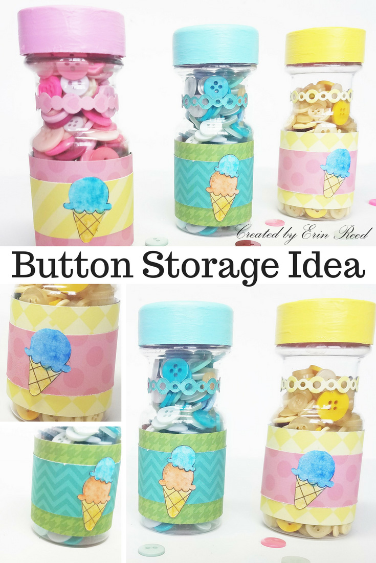 Erin Reed Makes Cute As A Button Craft Storage Idea