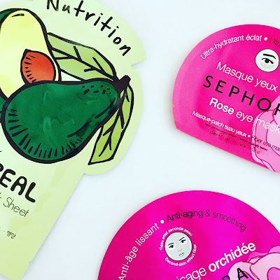 Sephora Face/Eye Sheet Masks (Pearl, Rose, Orchid) and Tony Moly Rice Sheet Mask Review