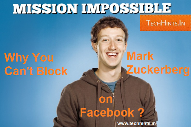 can't block Mark Zuckerberg
