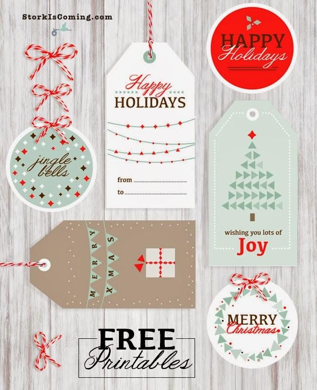 świąteczne etykiety
