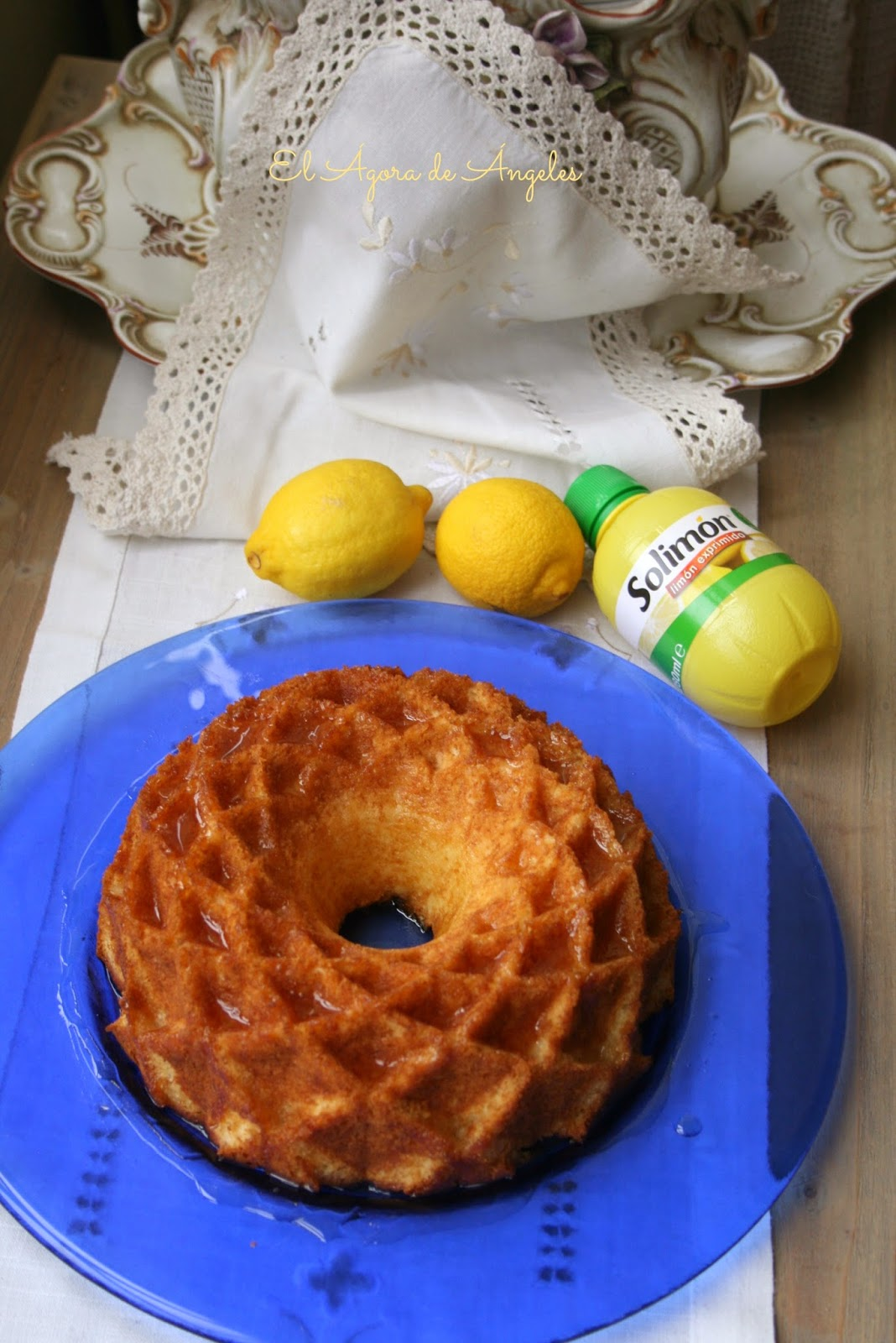 bundt cake , limón, glaseado limón